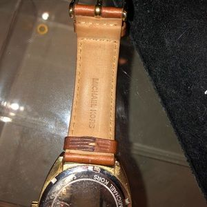 Michael Kors Accessories - Michael Kors camel leather gold watch